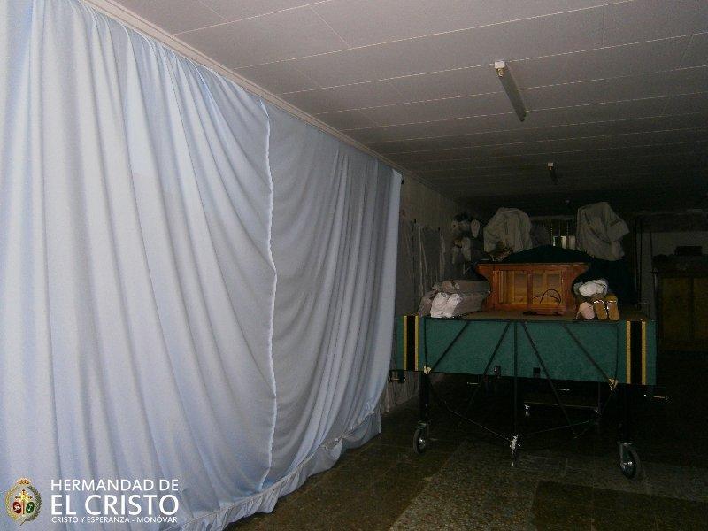 Zona de almacenaje y priostía