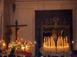 El Cristo frente a la Virgen de los Dolores en la Procesión del Silencio de 2007