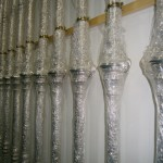 Varales del palio almacenados