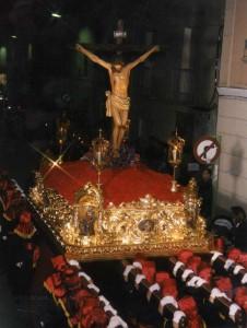 El Cristo en su nuevo paso en el año 2000