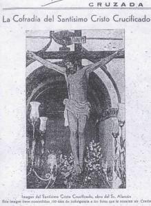 El Cristo en 1946 o 1947, en la Revista 'Cruzada'